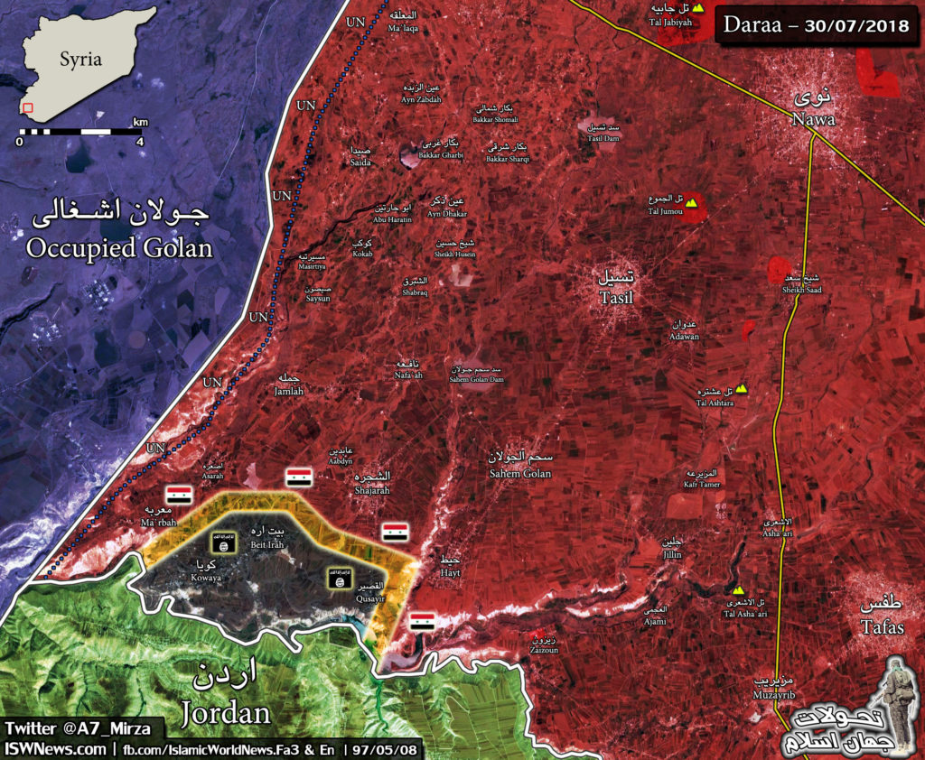 Army Troops Storming Few Remaining ISIS Positions In Southern Syria (Maps)