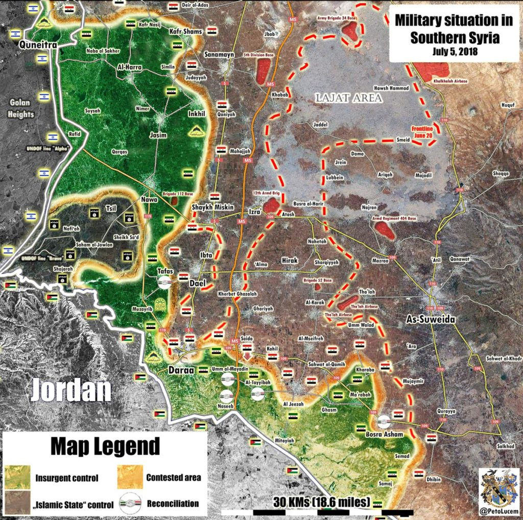 Tiger Forces Resume Their Advance In Daraa Province Securing Another Town (Map)