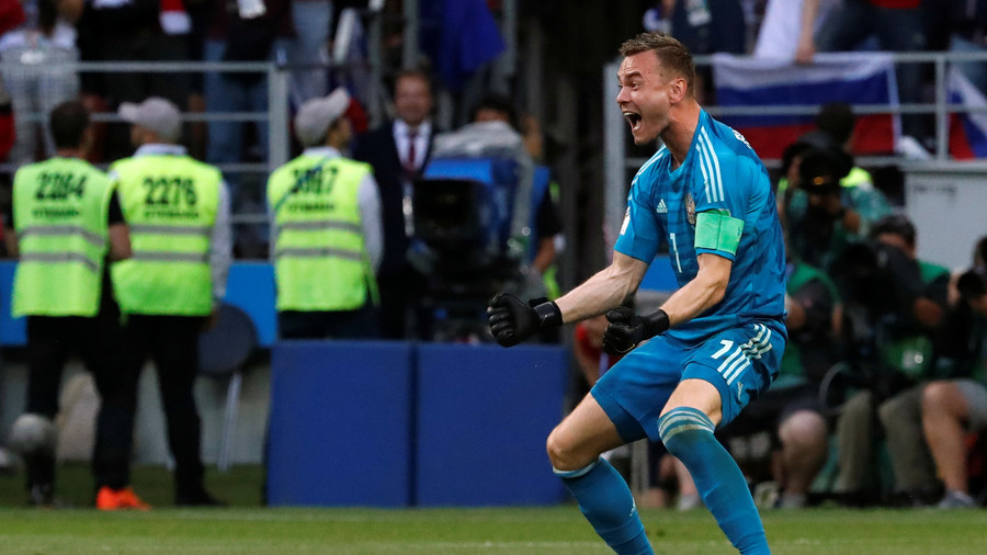 Russia Beats Spain (4-3). FIFA Reacts Selecting Russia's Goalkeeper For Doping Tests