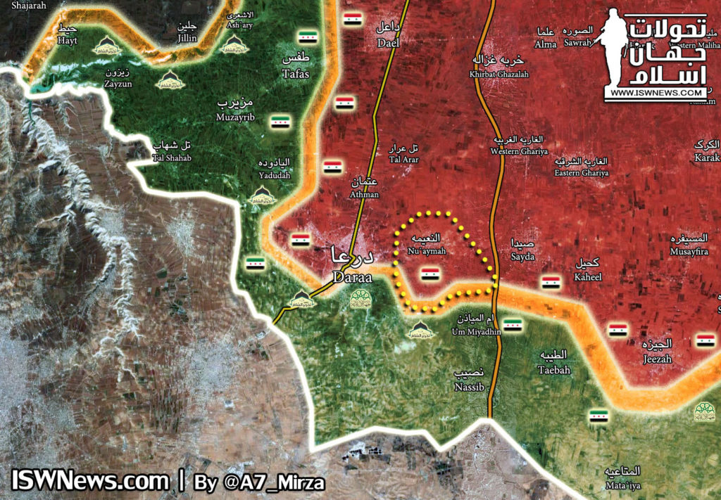 Government Forces Isolated Militant-held Part Of Daraa City From Eastern Direction (Map)