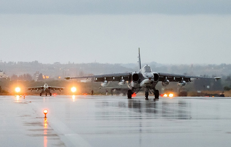 Russian Su-25 Attack Aircraft Return Home After Syrian Mission