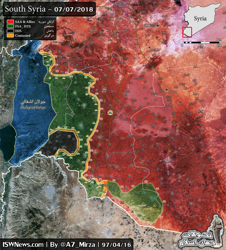 In Maps: Government Forces Retake Large Chunk Of Syrian-Jordanian Border