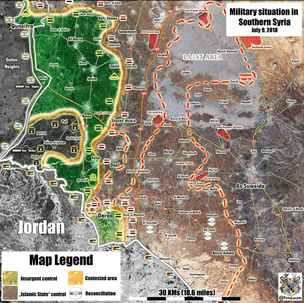 Government Forces Enter Zaizoun And Tal Shihab In Southwestern Daraa (Map Update)
