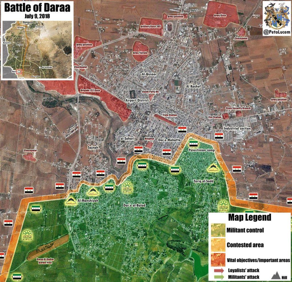 Miitants Obkľúčený V Meste Daraa Sa Pripravili Na Odovzdanie Správy
