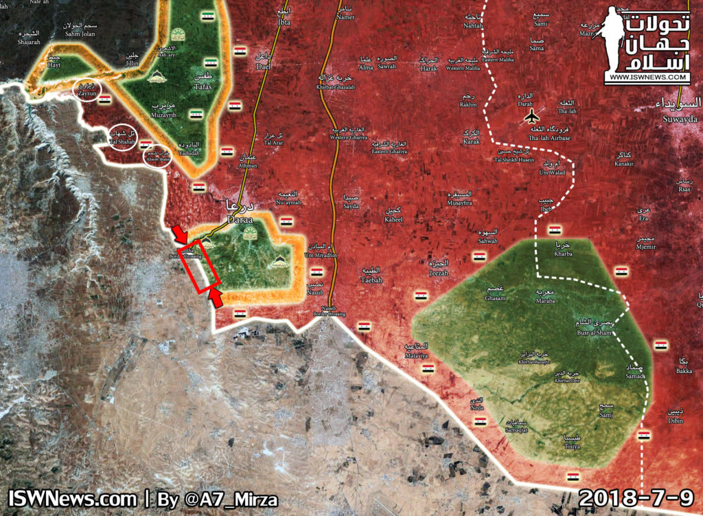 Tel Aviv Sends Another Threat To Damascus As Syrian Forces Retake Another Chunk Of Border With Jordan