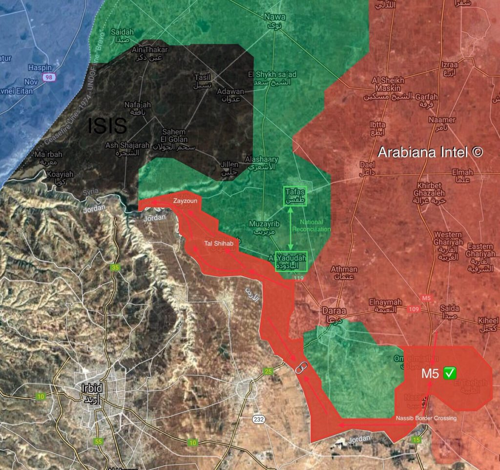 In Maps: Military Situation In Daraa Province Amid Ongoing Syrian Army Advance Against Militants