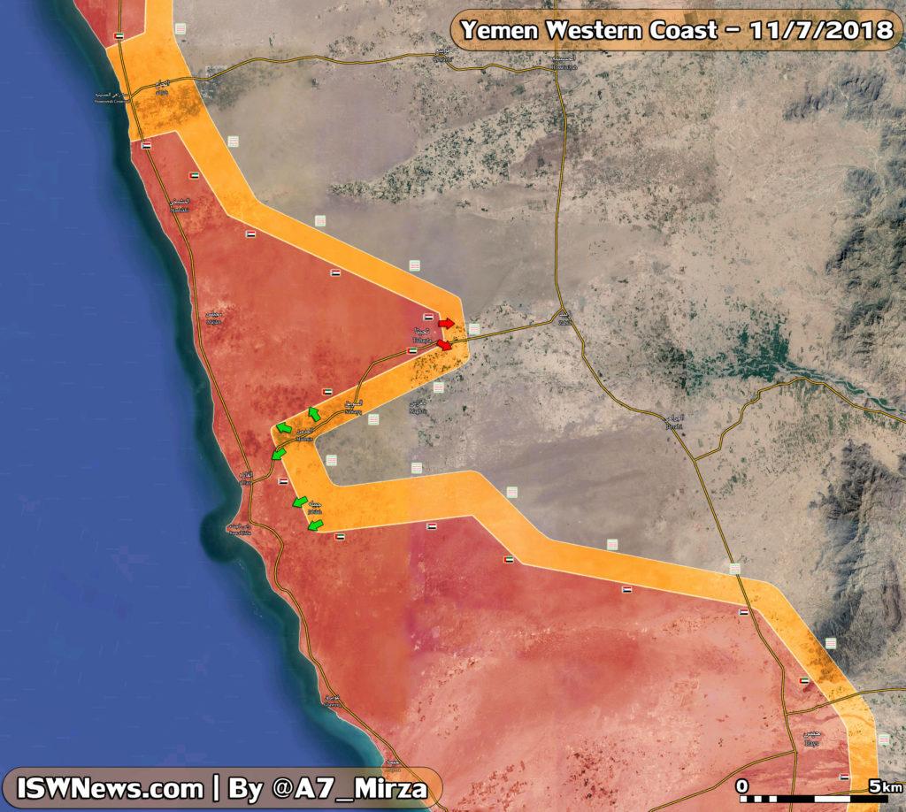 Saudi-UAE-led Forces Captured Tuhayta From Houthis In Western Yemen (Map)