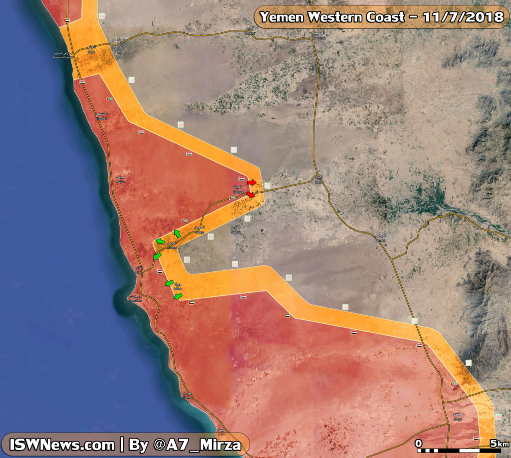 Saudi-UAE-led Forces Captured Tuhayta From Houthis In Western Yemen (Map)