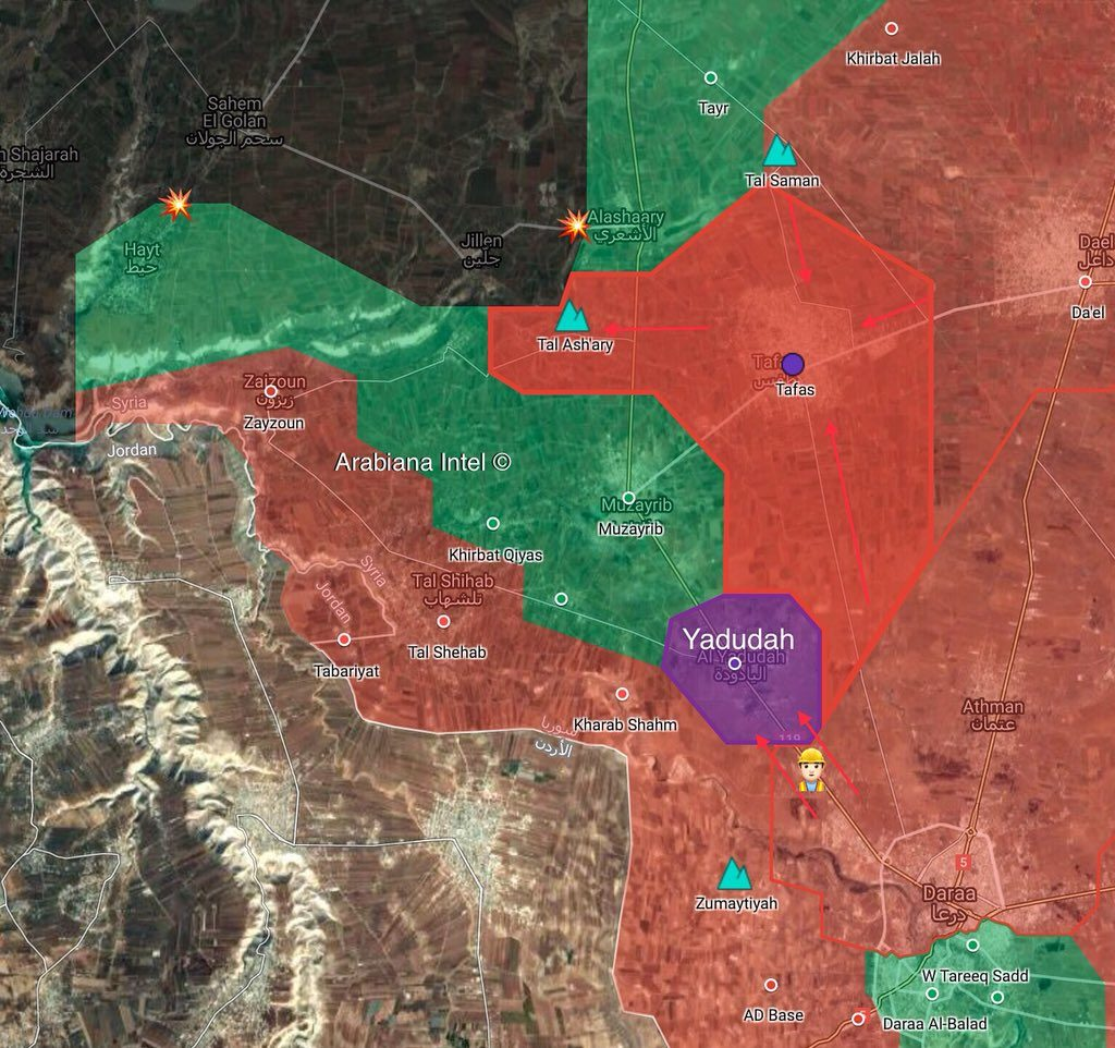 Map Update: Government Forces Retake Control Of Yadudah, Nearby Points In Southern Syria