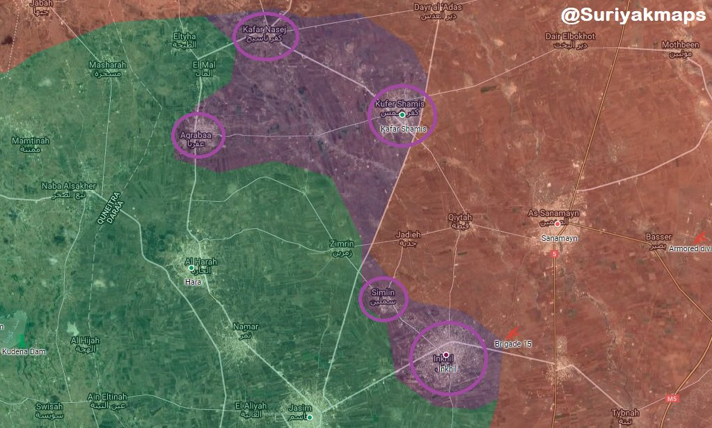Government Forces Are About To Liberate Entire Daraa Province After Series Of Reconciliation Deals And Advances (Maps)