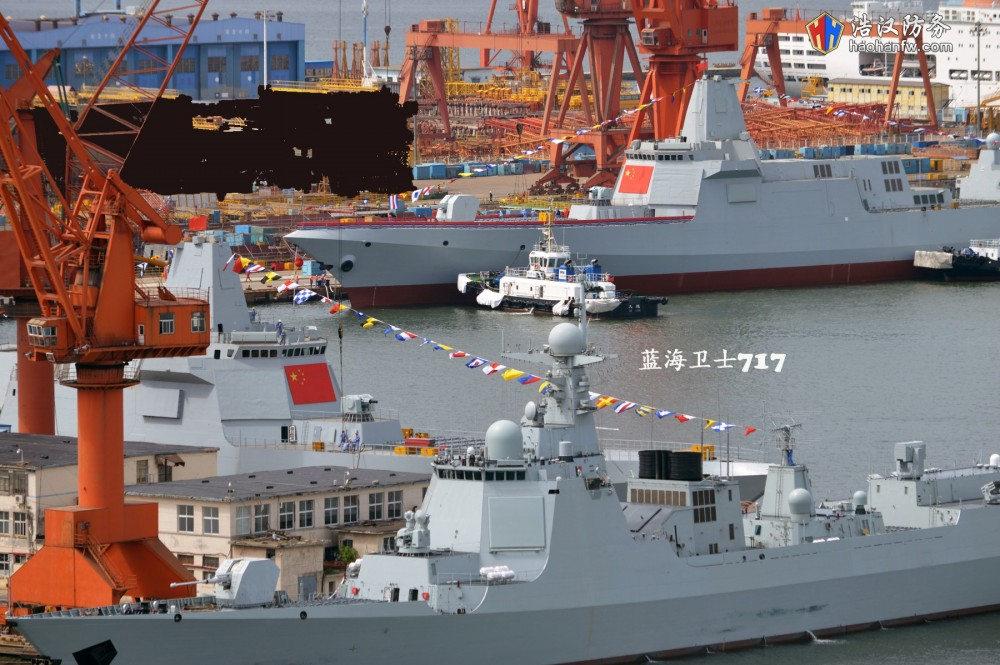 China Launches Two Type 055 Guided Missile Destroyers (Photos)