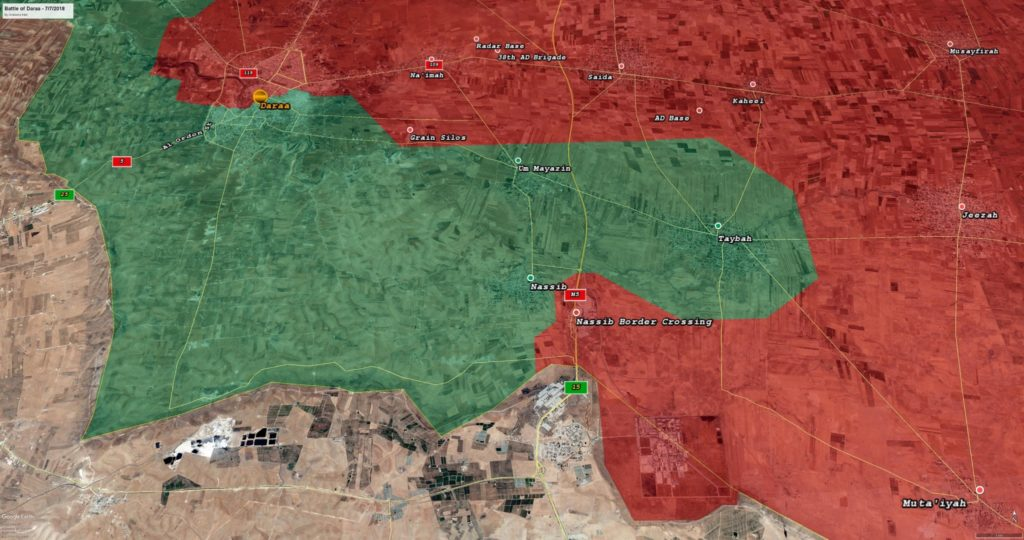 Government Forces Liberated 520km2 From Militants In Southern Syria (Maps)