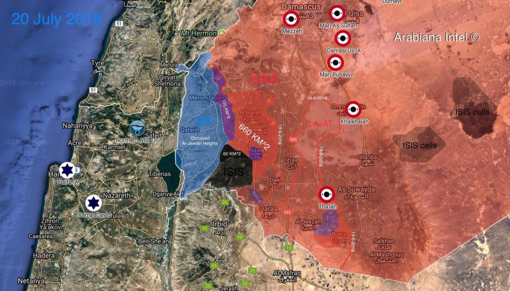 Only 60km2 Southern Syria Under Control Of Militants, Syrian Army Continues Advance (Maps)