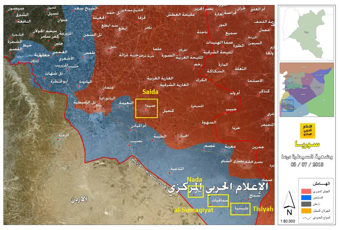 Syrian Military Begins Its Advance Along Border with Jordan, Captures Several Positions