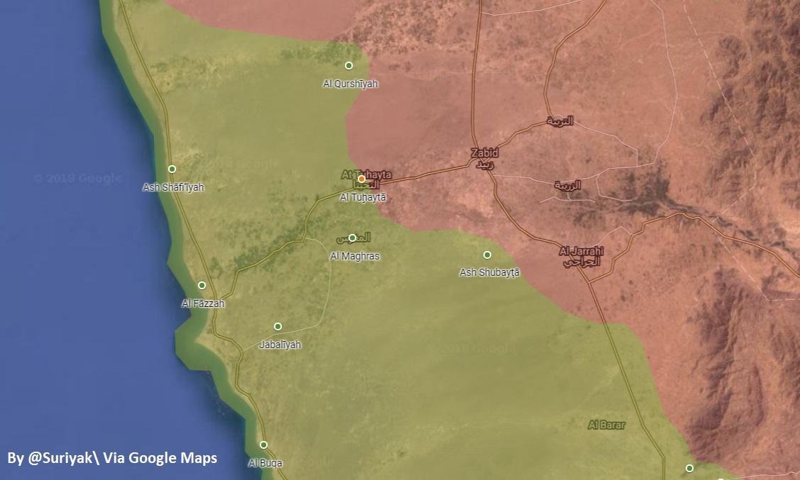 """Saudi-led Coalition Captures Key Town Along Western Yemeni Coast, Houthis Respond With """"Ballistic Missile"""" Strike"""