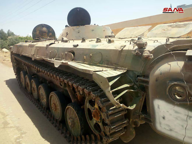 More Heavy Weapons Handed Over To Syrian Military In Bosra Al-Sham (Photos)