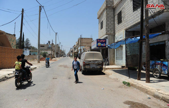 Over 30,000 People Return To Da'el In Daraa Province After Syrian Forces Restore Security There