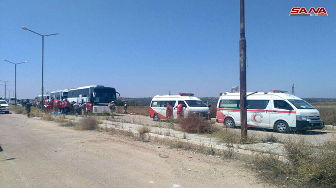 First Batch Of Militants Withdrew From Daraa City To Northern Syria (Photos)