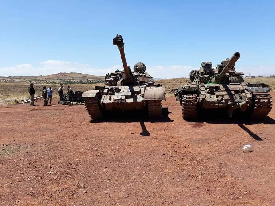 Remaining Militants In Al-Quneitra Governorate Hand Over More Heavy Weapons To Syrian Army (Photos)