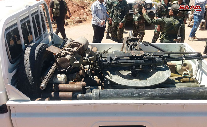 Remaining Militants In Al-Quneitra Governorate Hand Over Their Weapons (Photos)
