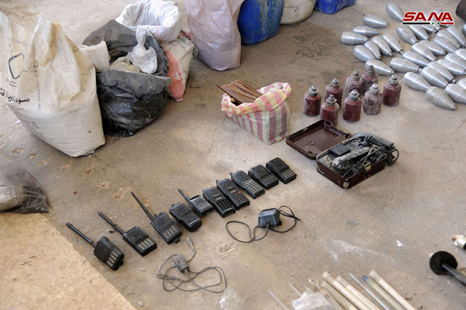 Governemnt Forces Capture Weapons Left Behind By ISIS In Villages Of Babila, Yalda and Beit Sahem In Southern Syria (Photos)