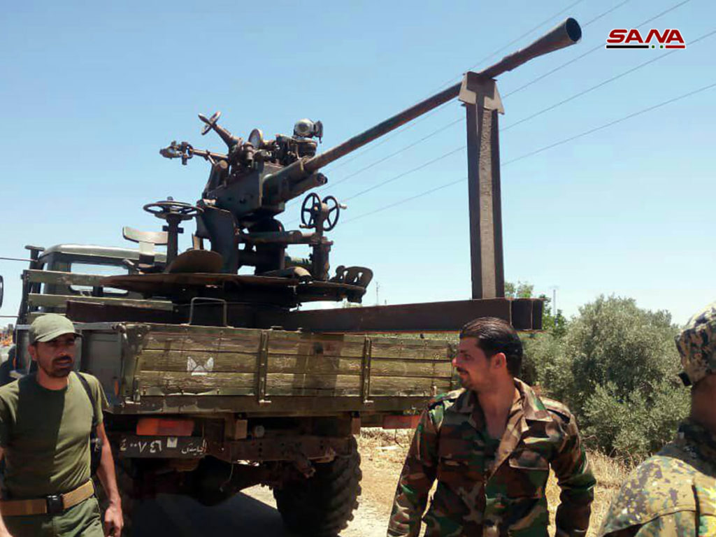 Militant Groups In Southern Syria Surrender More Weapons As Government Forces Approach Daraa City From Southern Direction
