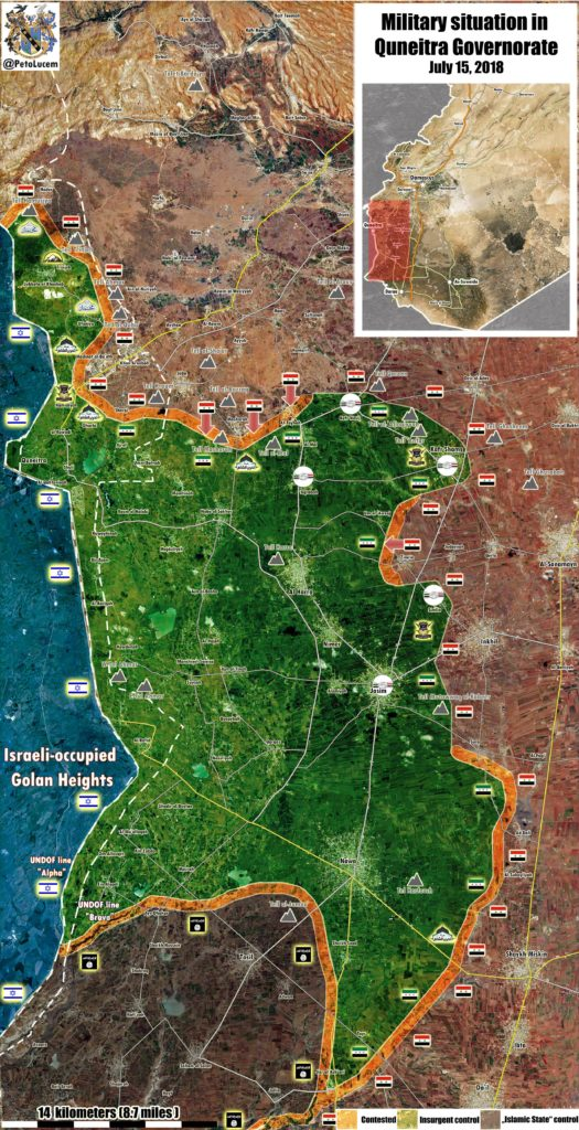 Syrian Millitary Launches Attack In Al-Quneitra, Continues Its Advance In Western Daraa