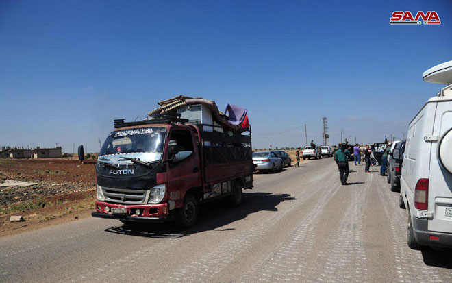 Hundreds Of Displaced Families Return To Their Homes In Syria's Daraa Province (Photos)