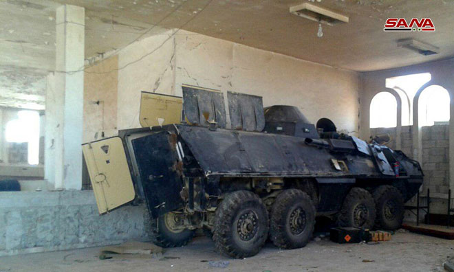 Syrian Army Captures Armoured Vehicles Supplied By U.S. Military Operations Room In Jordan To Militants (Photos)