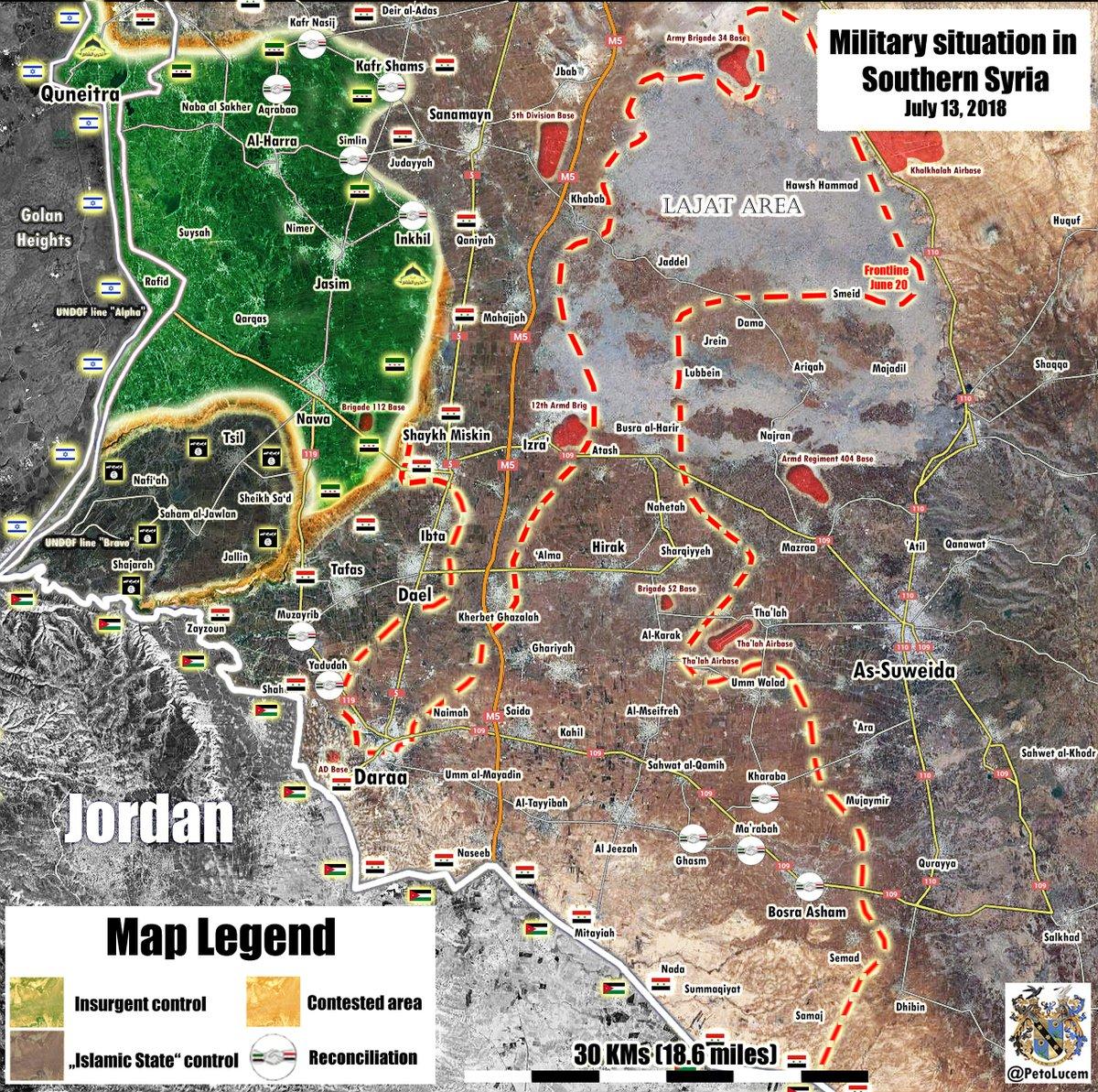 Sýrske Vojenské Obnoví Sa Jej Vopred V Západnej Daraa (Mapa)