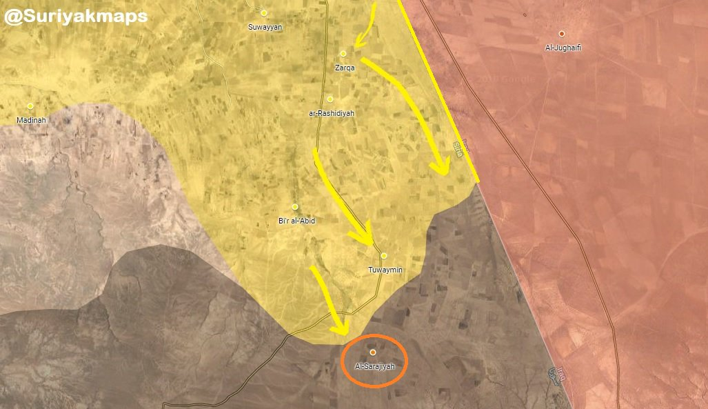Results Of SDF Operation In Eastern Syria Over Past Week (Map)