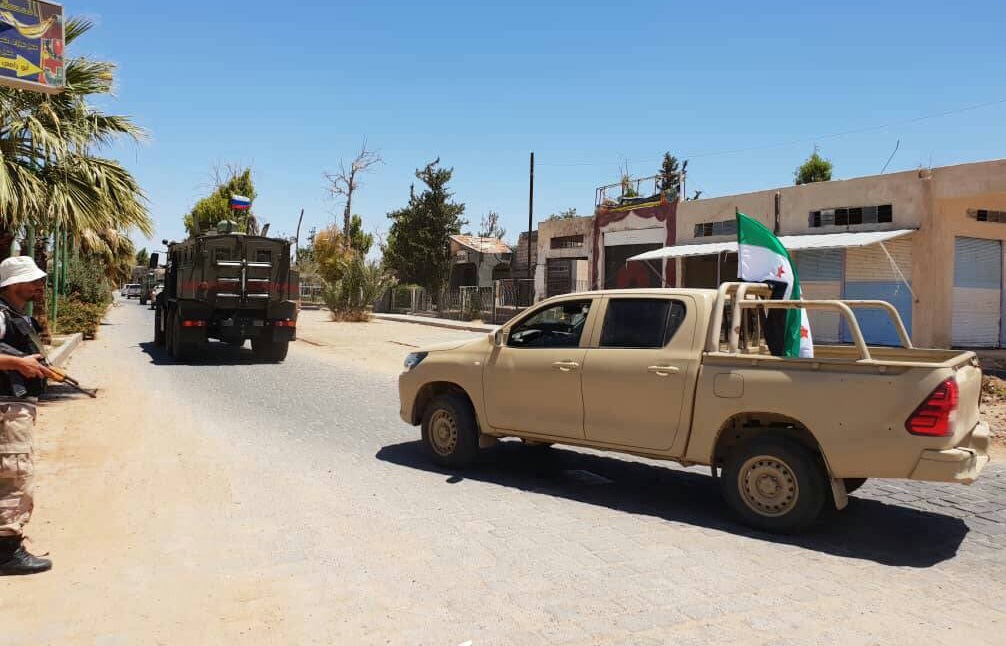 Bosra Al-Sham Fighters Begin Handing Over Their Weapons To Syrian Military