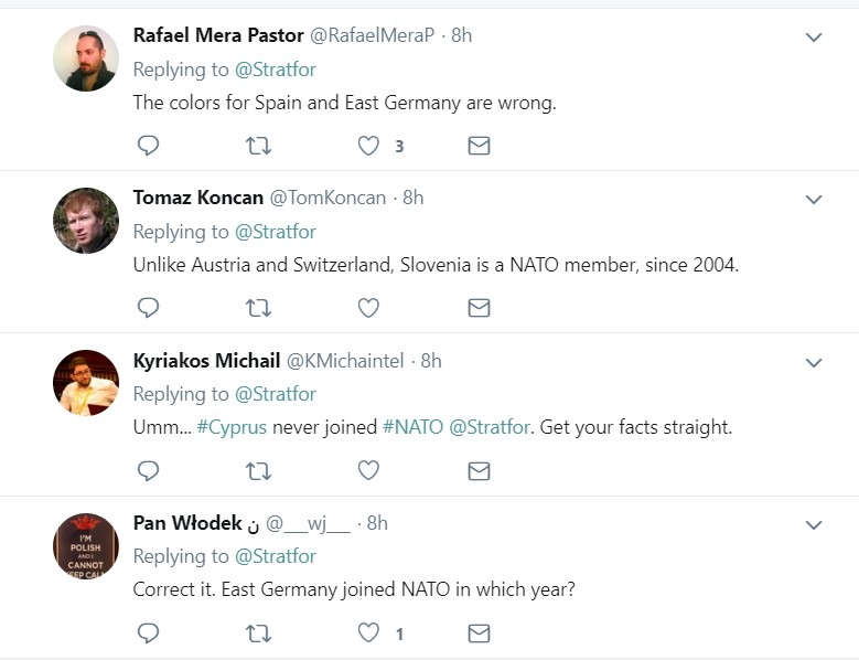 Stratfor Fails To Point Out NATO Member States And Their Dates Of Membership Properly On 'Exclusive Map'
