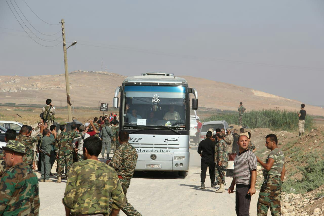 Thousands Of Civilians And Fighters Evacuated From Al-Fu'ah And Kafriya (Photos)