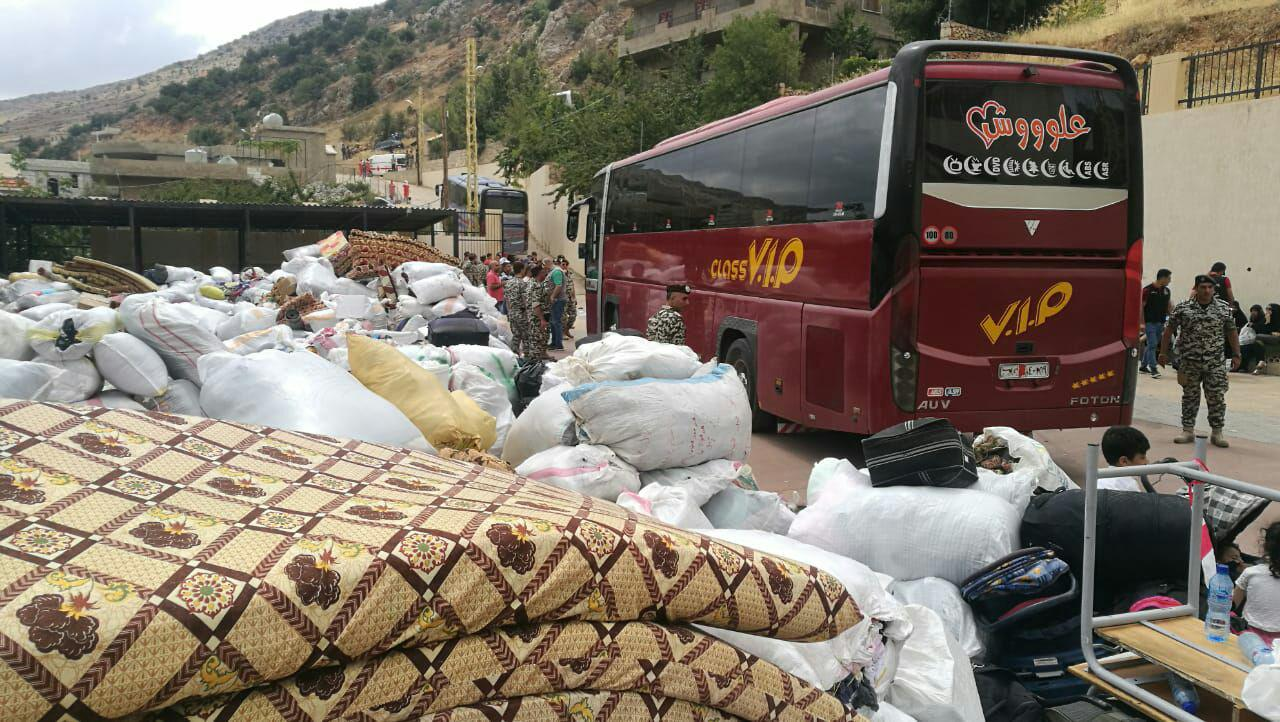 Hundreds Of Syrian Refugees Return From Lebanon To Syria's Beit Jinn And Al-Zabadani