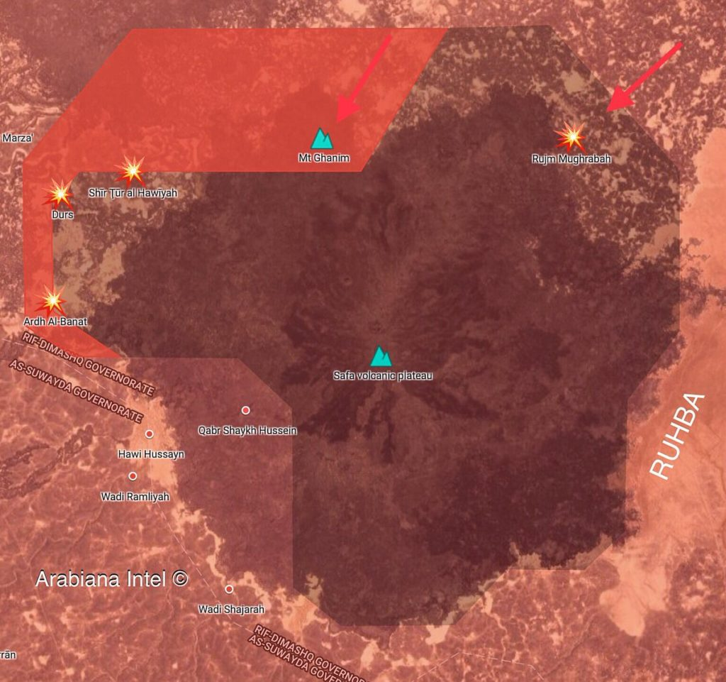 Government Forces Retake Abu Ghanim Mount From ISIS Cells In Rif Dimashq Province (Map)
