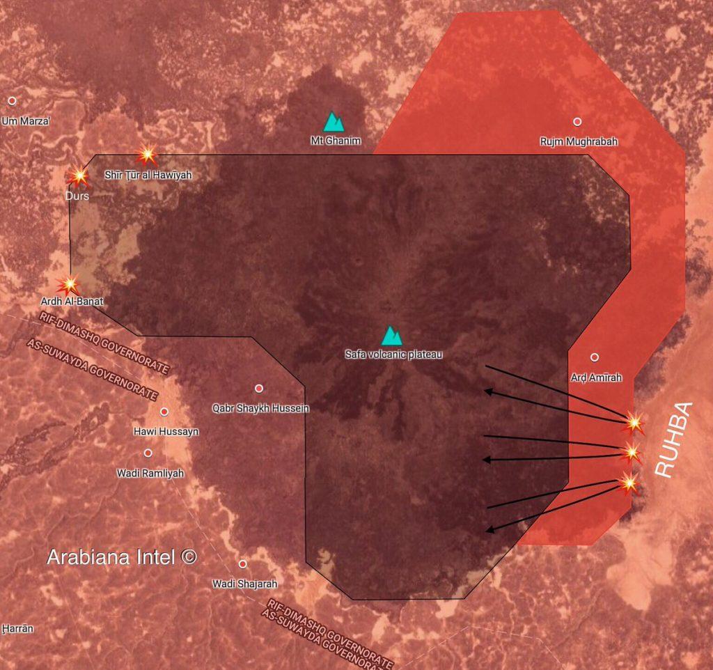 Sýrska Armáda Sa Uvoľňuje Ardh Amirah A Rujm Mughrabah Oblasti, V Rif Damashq Púšti