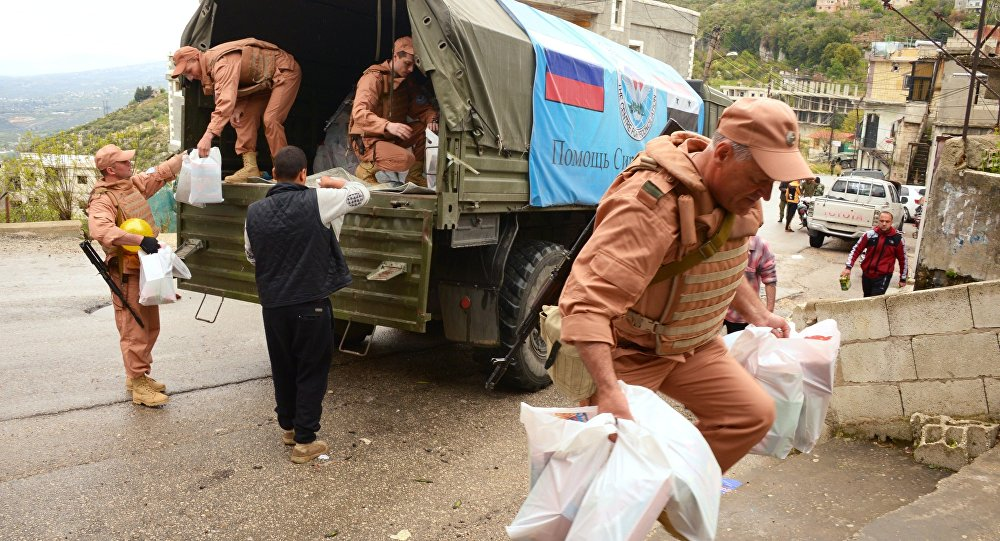 Over 3.7 Tonnes Of Humanitarian Aid Delivered To Syria's Rif Dimashq Province