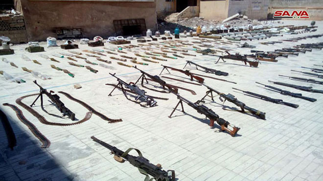 Government Troops Discover Loads Of Weapons In Northern Homs (Photos, Video)