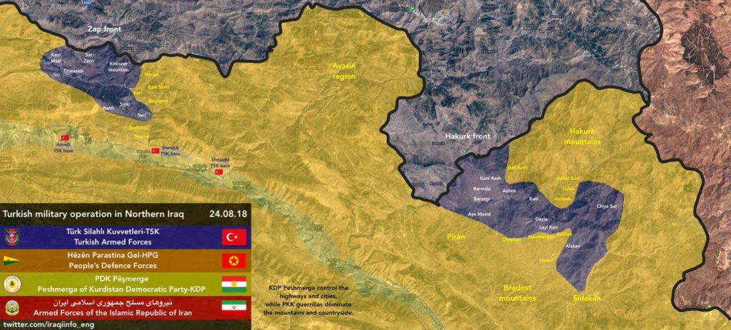 Turkish Air Force Carried Out Series Of Strikes On PKK Targets In Northern Iraq