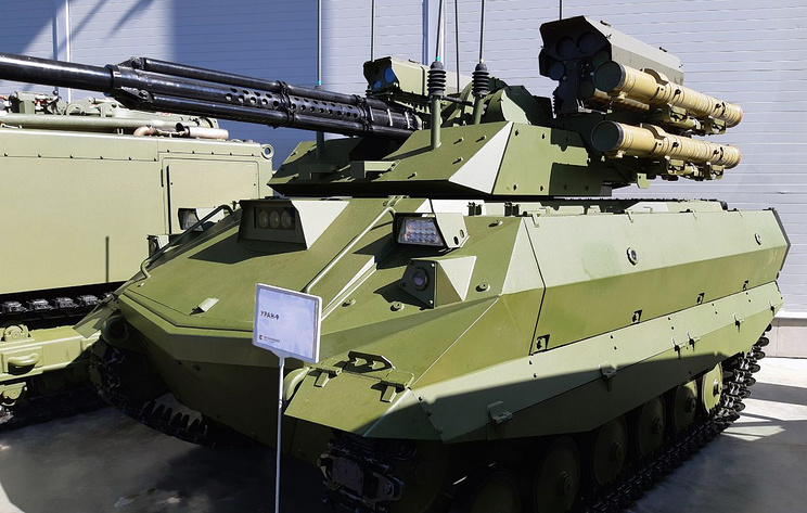 Russia's Syria-Tested Combat Robot Uran-9 Got 12 Flamethrowers