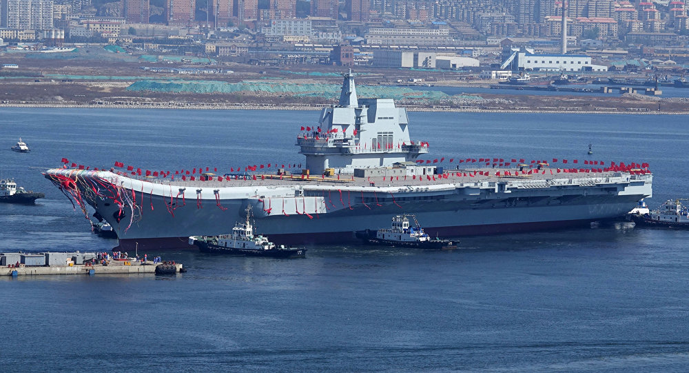 China's Type 001A Aircraft Carrier Sets Off For Second Open Sea Trials