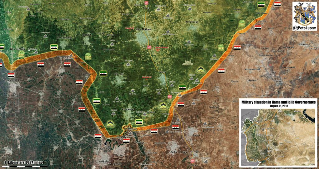 Syria Map Update: Military Situation In Northern Hama, Southern Idlib
