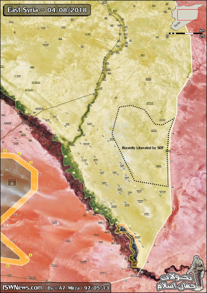 Map Update: US-backed Forces Declare Full Control Of Syrian-Iraqi Border On Eastern Bank Of Euphrates