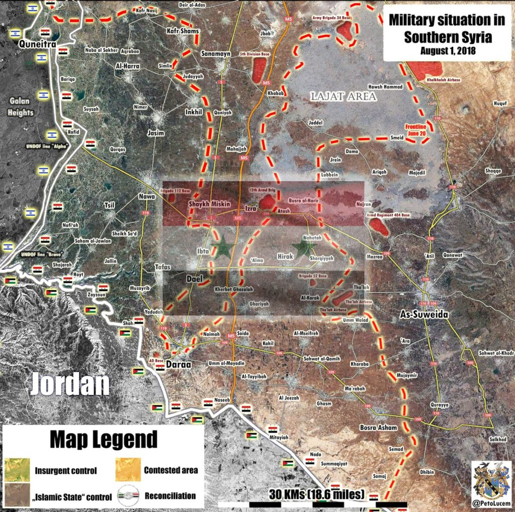 Russian Military Releases Details Of Operation In Southern Syria: 3,332km2 Liberated, Thousands Of Militants Neutralized