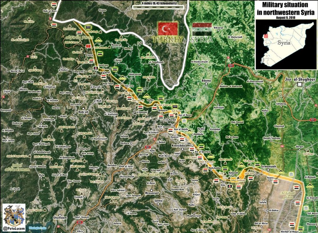 Military Situation In Northern Latakia On August 9, 2018 (Syria Map Update)