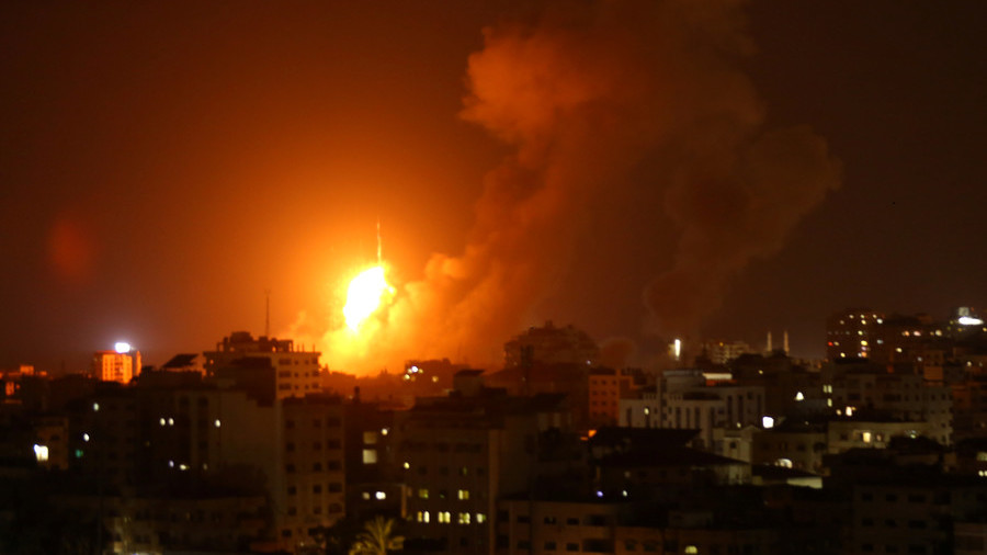 New Wave Of Israeli Airstrikes On Hamas Positions In Gaza