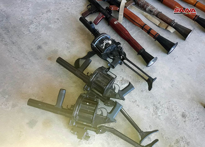 Syrian Army Showcases Weapons And Equipment Recovered In Al-Quneitra (Video, Photos)