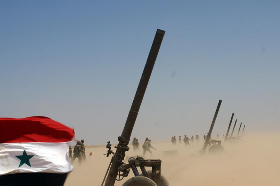 Syrian Army Artillery Shells Hay'at Tahrir al-Sham Positions In Hama And Idlib