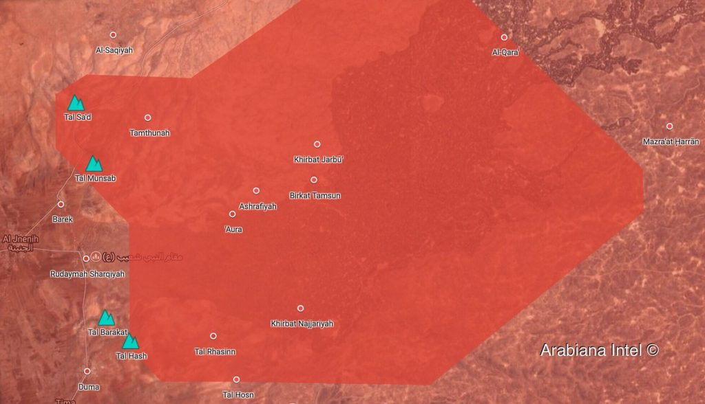 In Maps: Syrian Army's Military Operation Against ISIS Cells In Eastern Al-Suwayda